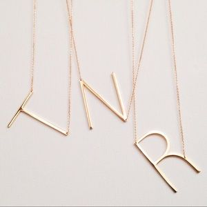Jewelry - NEW Large Initial necklaces monogram gold silver